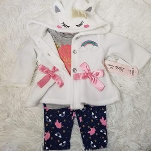 NWT's Little Lass 3 Piece outfit for baby girl 3-6
